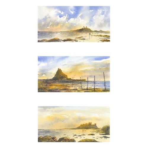 Castles of Northumberland Triptych