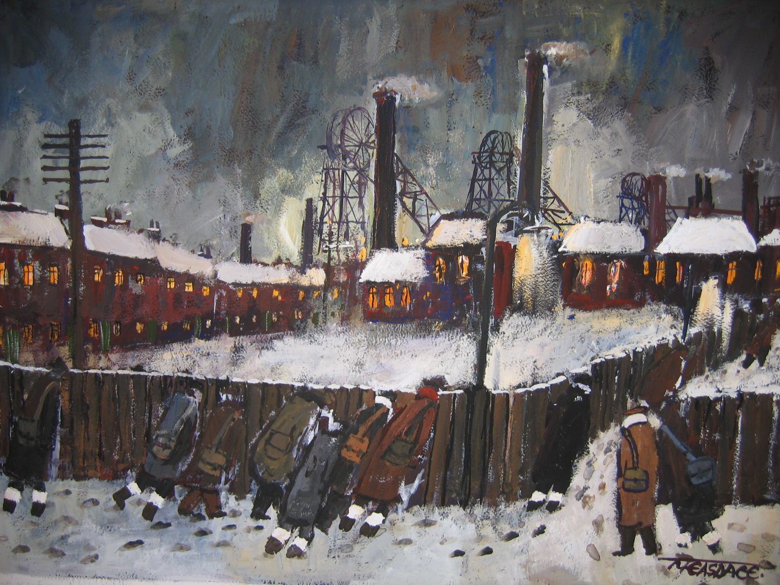 Colliery Lights Signed Limited Edition Print By Malcolm