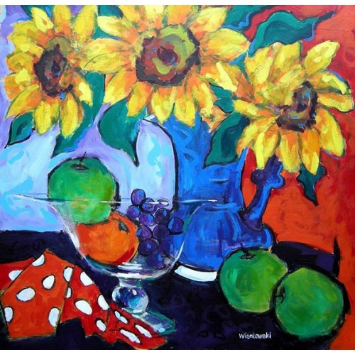 Sunflowers and Fruit bowl