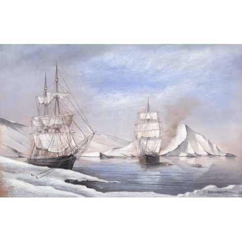 Arctic Whalers, among the Floes
