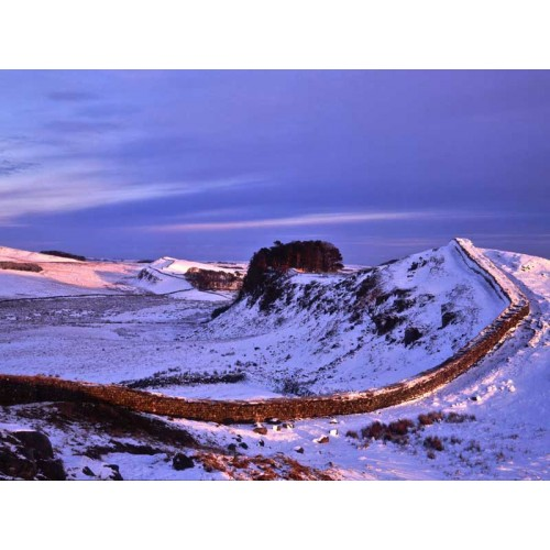 Hadrians Wall , Winter Dusk