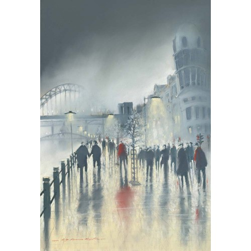 Quayside Evening. Small framed print