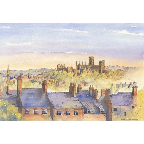 Evening light over Durham