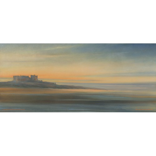 Bamburgh Castle from Seahouses side