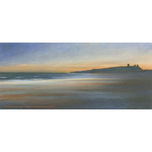 Dunstanburgh Castle at dusk