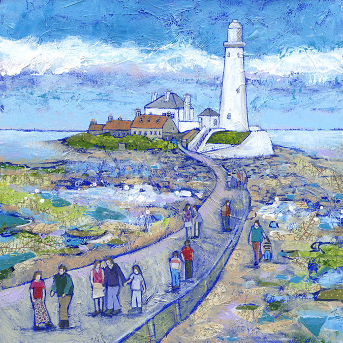 Tides Out St Mary S Signed Limited Edition Print By